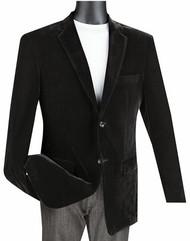 Vinci Black Velvet Classic Sportcoat