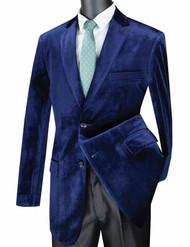 Vinci Sapphire Blue Velvet Classic Sportcoat