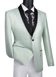 Vinci Aqua Metallic Weave Fancy Sportcoat