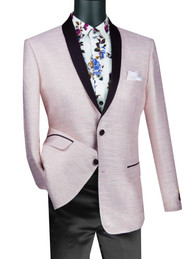 Vinci Pink Metallic Weave Fancy Sportcoat