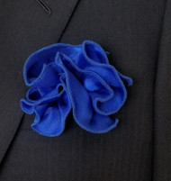 Antonio Ricci 2-in-1 Pouf Pocket Square - Royal Trim on Royal