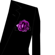 Black Trim on Dark Lavender 2-in-1 Pouf Pocket Square