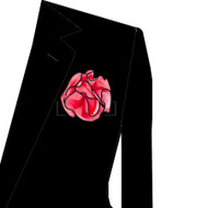 Black Trim on Rose 2-in-1 Pouf Pocket Square