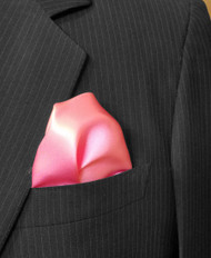 100% Silk Pocket Square - Dark Pink 13 x 13in