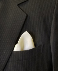 100% Silk Pocket Square - Cream 13 x 13in