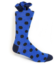 Antonio Ricci Premium Cotton & Spandex Socks - Blue Dot