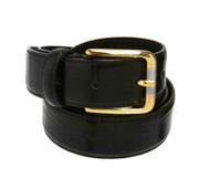 33mm - Bellissimo Leather Italian Belt - Black