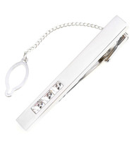 Diamond Swarovski® Crystal Silver Tie Bar Clip