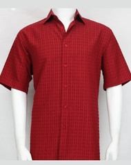 Bassiri Red Box Design Short Sleeve Camp Shirt