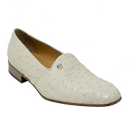 Mauri Cream Genuine Ostrich Quill Dress Loafer