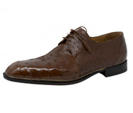 Mauri Genuine Tobacco Brown Ostrich Quill Dress Shoe