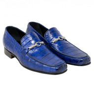 Mauri Royal Blue Genuine Baby Alligator Loafer