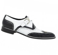 Mauri Genuine Alligator and Leather Italian Buckle Dress Shoe