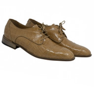 Mauri Genuine Alligator Sand Cap Toe Dress Shoe