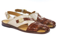 Mauri Genuine Ostrich Leg & Lizard Sandals