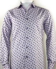St. Cado Lilac Purple Paisley Fashion Shirt