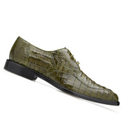 Belvedere 100% Genuine Hornback Classic Dress Tie Shoe - Olive
