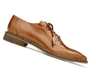 Belvedere Genuine Caiman Croc and Italian Calf Dress Shoe - Brandy