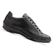 Belvedere Genuine Ostrich Leg and Calf Sneakers - Black