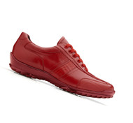 Belvedere Genuine Caiman and Italian Calf  Sneakers - Red