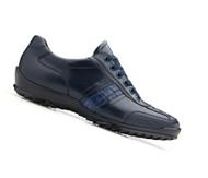 Belvedere Genuine Caiman and Italian Calf  Sneakers - Navy