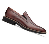 Belvedere Genuine Ostrich Leg and Calf Dress Loafer - Wine