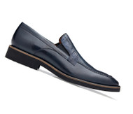 Belvedere Genuine Ostrich Leg and Calf Dress Loafer - Blue
