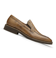 Belvedere Genuine Ostrich Leg and Calf Dress Loafer - Almond