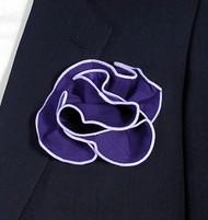 Antonio Ricci 2-in-1 Pouf Pocket Square - Light Purple on Dark Purple