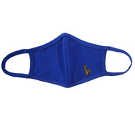 Adult - Blue Cotton Face Covering Mask - Polo Game Player Applique