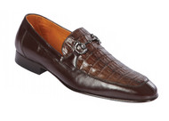 Lombardy - Genuine Caiman Belly Horsebit Dress Loafer - Brown