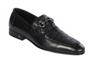 Lombardy - Genuine Caiman Belly Horsebit Dress Loafer - Black