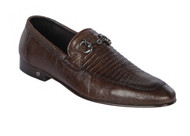 Lombardy - Genuine Teju Lizard Horsebit Dress Loafer - Brown