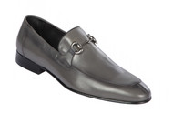 Lombardy - Genuine Calf Leather Horsebit Dress Loafer - Grey