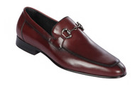 Lombardy - Genuine Calf Leather Horsebit Dress Loafer - Burgundy