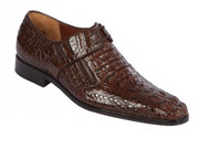 Lombardy - Genuine Caiman Croc Hornback Dress Shoe - Brown