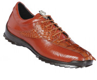Los Altos Genuine Caiman Croc Tail Cognac Sneaker