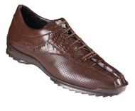 Los Altos Genuine Caiman Croc Tail Brown Sneaker