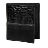 Lombardy - Black Genuine Caiman Belly & Leather Men's Wallet