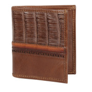 Lombardy - Brown Genuine Caiman Belly & Leather Men's Wallet