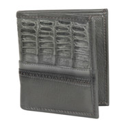 Lombardy - Grey Genuine Caiman Belly & Leather Men's Wallet