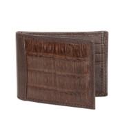 Lombardy - Brown Genuine Caiman Croc & Leather Men's Wallet - Money Clip