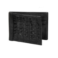 Lombardy - Black Genuine Caiman Croc & Leather Men's Wallet - Money Clip