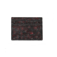Lombardy - Black Cherry Genuine Ostrich Quill Credit Card Wallet