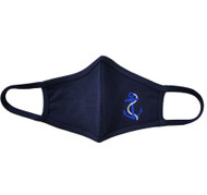Adult -Navy Cotton Face Covering Mask - Ship Nautical Anchor Applique