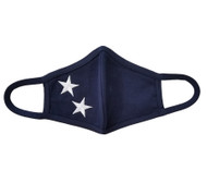 Adult - Navy Cotton Face Covering Mask -  Large Stars Applique
