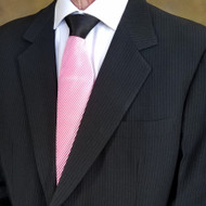 Antonio Ricci Contrasting Pleated Tie - Pink