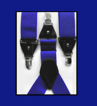 Luciano Ferretti Convertible Button & Clip Stretch Braces - Suspenders - Royal