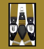 Antonia Convertible Button & Clip Stretch Braces - Suspenders - Gold