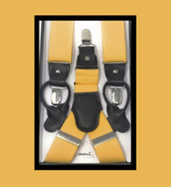 Antonia Convertible Button & Clip Stretch Braces - Suspenders - Yellow Mustard